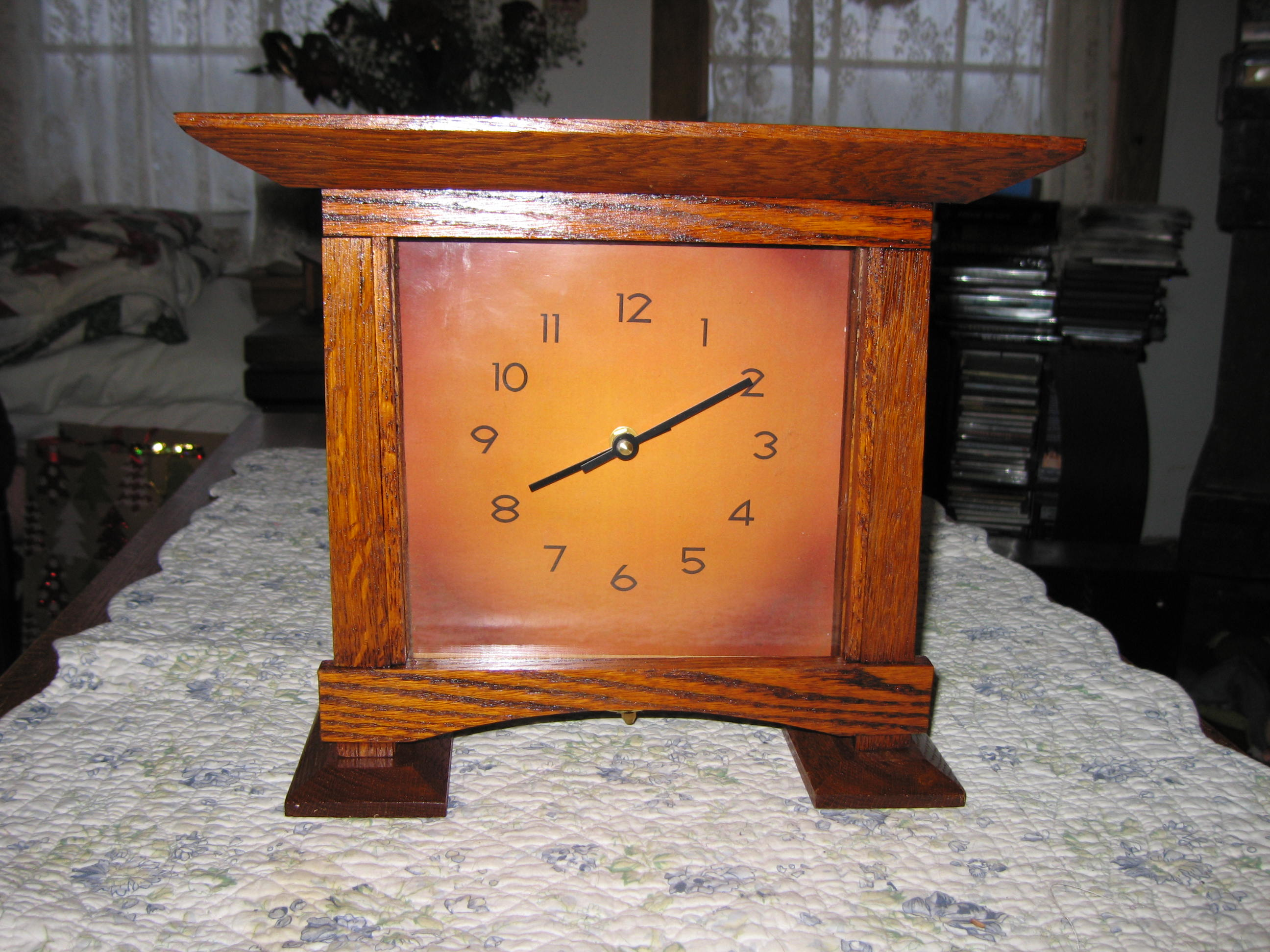 Arts and crafts mantle clock - Arts Crafts Mantel Clock A Simpler One